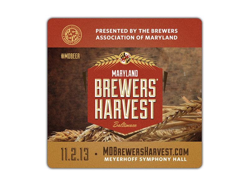 Maryland Brewers Harvest Coaster